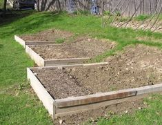 Hillside raised garden beds - the sunniest and least obtrusive place in our yard for a vegetable garden is on a hillside...wonder if I could tackle this