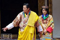King of Bhutan marries a commoner bride. Gorgeous colors.