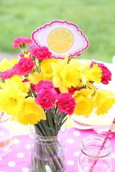 Pink Lemonade themed birthday party via Kara's Party - decor