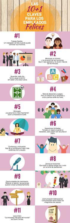 10+1 claves para tener empleados felices #infografia