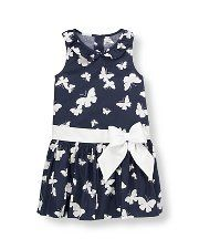 Janie and Jack Bow Butterfly Dress