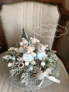 Winter Christmas, Christmas Home, Christmas Wreaths, Christmas Crafts, Christmas Decorations, Xmas, Holiday Decor, Advent Wreath, Flowers
