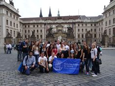Prague - Czech Republic:  Olympia was intern in Dresden, Germany, in autumn 2014. During her internship she had the chance to visit many places with the trips organized by IAESTE LC Dresden, including Prague, from where we have this nice group photo :)