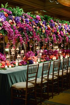 An epic storybook celebration, this enchanted garden wedding in Oklahoma at the Gallardia Country Club is one you will want to revisit time and time again. Garden Wedding Decorations, Wedding Table Centerpieces, Garden Weddings, Wedding Art, Wedding Flowers, 2017 Wedding, Wedding Trends, Wedding Ideas, Tall Floral Arrangements