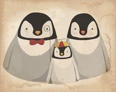 The Penguins. $15.00, via Etsy.