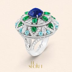 Van Cleef and Arpels. The Fleur bleue ring's secret is revealed in our story. Can you imagine all the poetry such a flower can hold? #lesecret