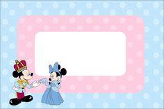 Imprimibles Minnie y Mickey rey y reina