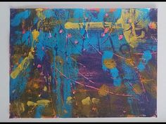 102_Demonstration of making several abstract pieces using acrylic paint/monotype. #19A2 - YouTube Using Acrylic Paint, Simple Art, Art Tips, Printmaking, Abstract, Artwork, Youtube, Painting, Summary