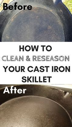 How to Reseason a Cast Iron Skillet In 3 Easy Steps #CleaningHacks #Clean #CastIron #Reseason #KitchenTips