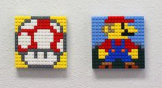 Mario & Toad as Brick-A-Pics. Turn images into LEGO® Brick mosaics!