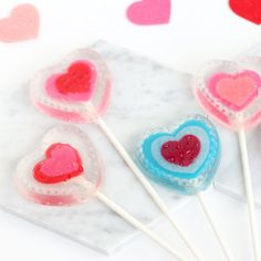 Learn how to make these fun soap pop Valentines using easy melt and pour soap.