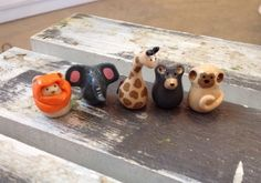 A personal favorite from my Etsy shop https://www.etsy.com/listing/277457358/miniature-polymer-clay-zoo-animals-5