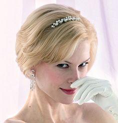 elegant short hair for wedding