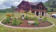butterfly garden with paver edging