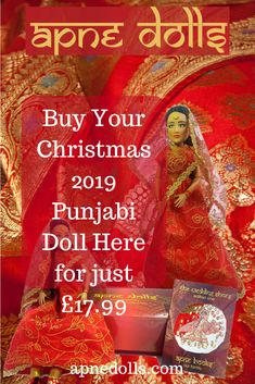 Be the first to take advantage of this Christmas 2019 offer (Whopping £10 off RRP) off your Satty Doll and gift set which includes the illustrated story book The Wedding Shoes. Just go to the checkout here when you visit www.apnedolls.com to obtain this offer now available! #apnedolls #sattydoll #apnebooks #indiandoll #punjabidoll #barbieindia Barbie India, Wedding Doll, Wedding Shoes, Indian Dolls, Punjabi Bride, Unique Toys, Boxing Day, New Dolls, Christmas Delivery
