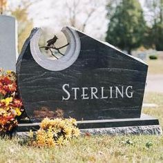 Upright monument for the Sterling family
