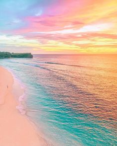 New Photography Beach Ocean Beautiful Sunset Ideas Beautiful Sunset, Beautiful Beaches, Beautiful World, Ocean Beach, Rainbow Beach, Sunset Beach, Beach Fun, Ocean Pics, Bali Sunset
