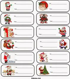 Free Printable Christmas Gift Tags, Christmas Labels, Christmas Crafts For Kids, Christmas Printables, Christmas Holidays, Christmas Gifts, Christmas Decorations, Christmas Envelopes, Christmas Border