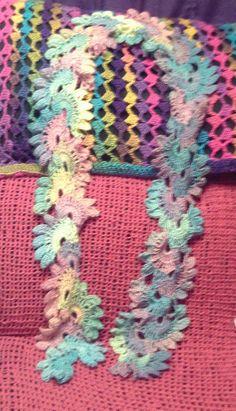 lotus scarf by PrimaDonnaCrochet on Etsy
