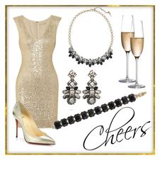 """""""Cheers"""" by katherineinsley-candi on Polyvore featuring Alice + Olivia, Rogaska and Christian Louboutin"""