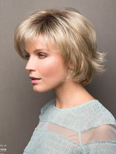 Find the Sky Wig by Rene of Paris Noriko. A wispy voluminous bob with soft, feathery layers. Ombre Blond, Gold Blonde, Blonde Wig, White Blonde, Synthetic Lace Front Wigs, Synthetic Wigs, Bob Hairstyles, Straight Hairstyles, Hairdos