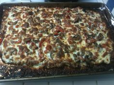 Meat Lovers low-carb Pizza!