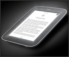 Nook SimpleTouch w/ GlowLight. Barnes & Noble's new 6″ touchscreen e-book reader has a built-in backlight, so you get the best of both worlds: e-ink that's easy on the eyes and illumination for reading in the dark.