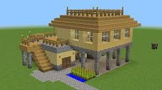 Image result for minecraft survival houses Minecraft Barn, Minecraft Houses Blueprints, Minecraft Seed, Minecraft How To Build, Minecraft Ideas, Minecraft Stuff, Play Minecraft, Minecraft Challenges, Minecraft Houses Survival