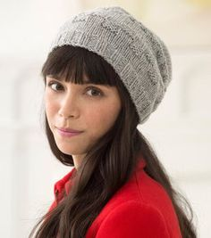 How To Knit Wool-Ease Checkmate Slouch Hat