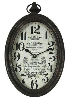 Kovové hodiny na zavěšení Art Decor, Home Decor, Wooden Products, Clock, Paris, Furniture, Paper Mill, Watch, Decoration Home