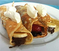 Crepes; Choose your own crepes are great to make all guests happy and keeps it to a reasonable number of guests.