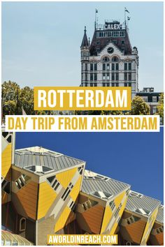 Wondering what the best day trips from Amsterdam are? Look no further than this post, a comprehensive list of traveler's favorite day trips from Amsterdam! Road Trip Europe, Europe Travel Guide, Europe Destinations, Travel Guides, Travel Abroad, Day Trips From Amsterdam, Amsterdam Travel, Visit Amsterdam, European Travel