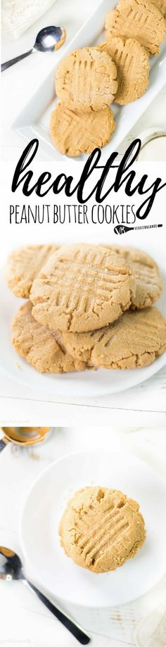 Healthy Peanut Butter Cookies to satisfy those peanut butter cravings. These are easy peanut butter cookies are made with almond flour for a quick healthy option.(Gluten-Free, Dairy-Free, Low-Sugar) | Posted By: DebbieNet.com
