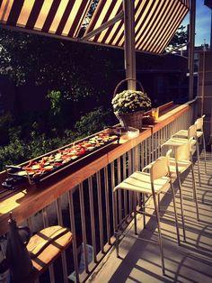 De balkonbar maakt van je balkon een volwaardige buitenkamer.