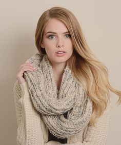 Another great find on #zulily! Gray Knit Infinity Scarf by Leto Collection #zulilyfinds