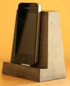 Concrete iPhone Dock