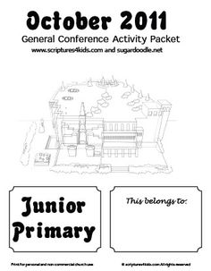 Lots of General Conference packets/activities