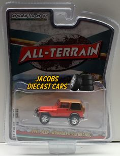 1:64 Greenlight ALL-TERRAIN Series 3 - 1995 JEEP WRANGLER RIO GRANDE - NICS #Greenlight #Jeep