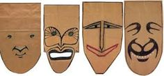 Image result for artist who does paper bag masks