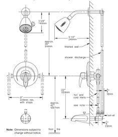 recommended shower faucet height standard height for shower head rh pinterest com