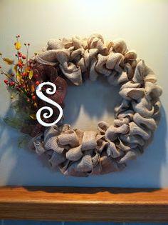 Simply Homemade: Simply a DIY Fall Wreath