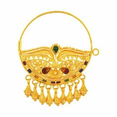 latest Gold nath/nose rings collection - Jewellery Designs