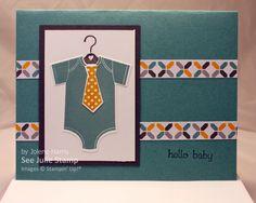 See Julie Stamp - Julie Wadlinger, Stampin' Up! Demonstrator : Swap: Cards in the Mail - Something For Baby