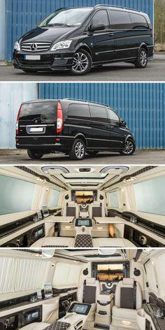 Mercedes-Benz Vito | Black | 8 Seats | #rent #luxury #van #mercedes #class #german #germany #interior #inside #design