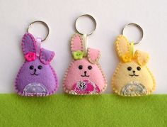 Rabbit Keyring Felt
