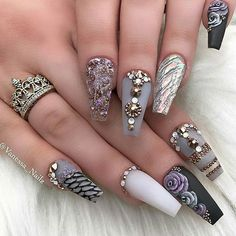 She always creates nail magic @vanessa_nailz We adore how she has perfected so many different nail art forms! Another flawless set from @vanessa_nailz Interview with her over on our blog www.clawgasmic.com and make sure to follow our fellow nail queen guys
