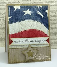 Stamps - Our Daily Bread Designs Old Flag Background and All Occasion Sentiments