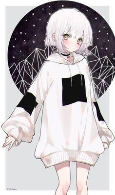 Anime Drawing black and white Anime Neko, Kawaii Anime Girl, Manga Kawaii, Cool Anime Girl, Chica Anime Manga, Kawaii Art, Anime Art Girl, Manga Girl, Beautiful Anime Girl