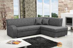 Večerní relax u televize nikdy nebyl příjemnější. Na rohové sedací soupravě Hanrieta se s rodinou pohodlně uhnízdíte a nerušeně si užijete oblíbený film. Sofa, Couch, Relax, Furniture, Trendy, Home Decor, Film, Movie, Settee
