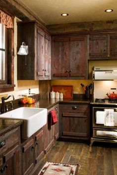 Gorgeous rustic kitchen.